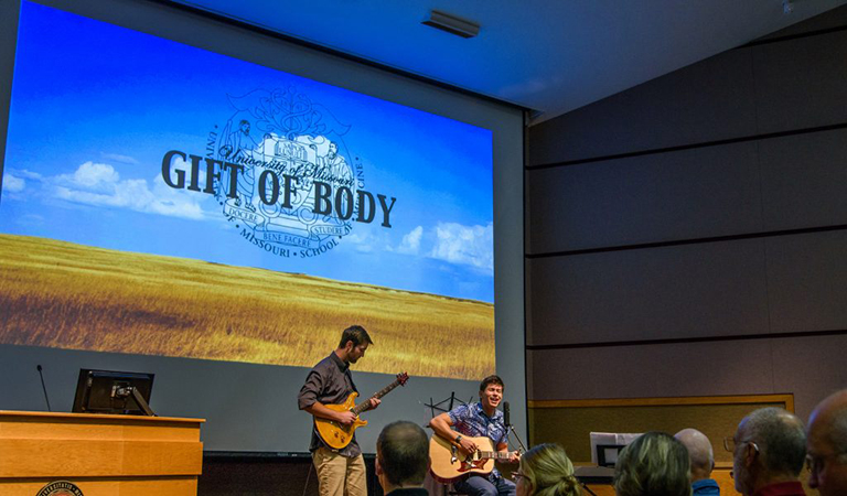 The Gift of Body Commemoration Ceremony at the MU School of Medicine.