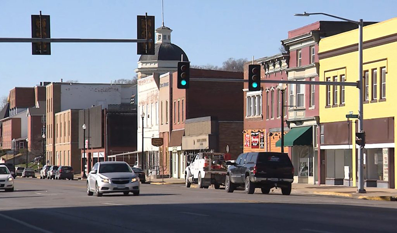 Photo of rural downtown