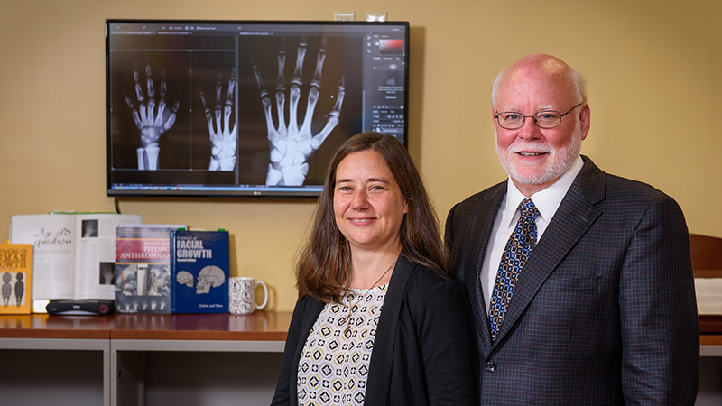 Dana Duren, PhD, Director of Orthopaedic Research and Dr. Sherwood, Richard J.