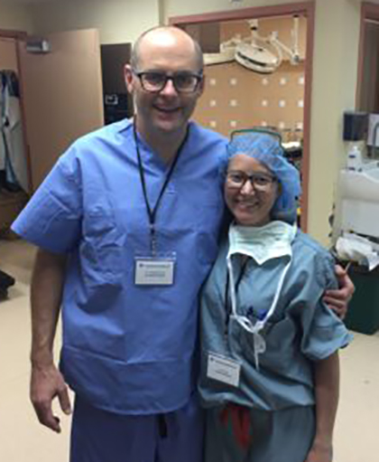 Dr. Bradley Crow and Emily Crow, PA, at Belau National Hospital Palau.