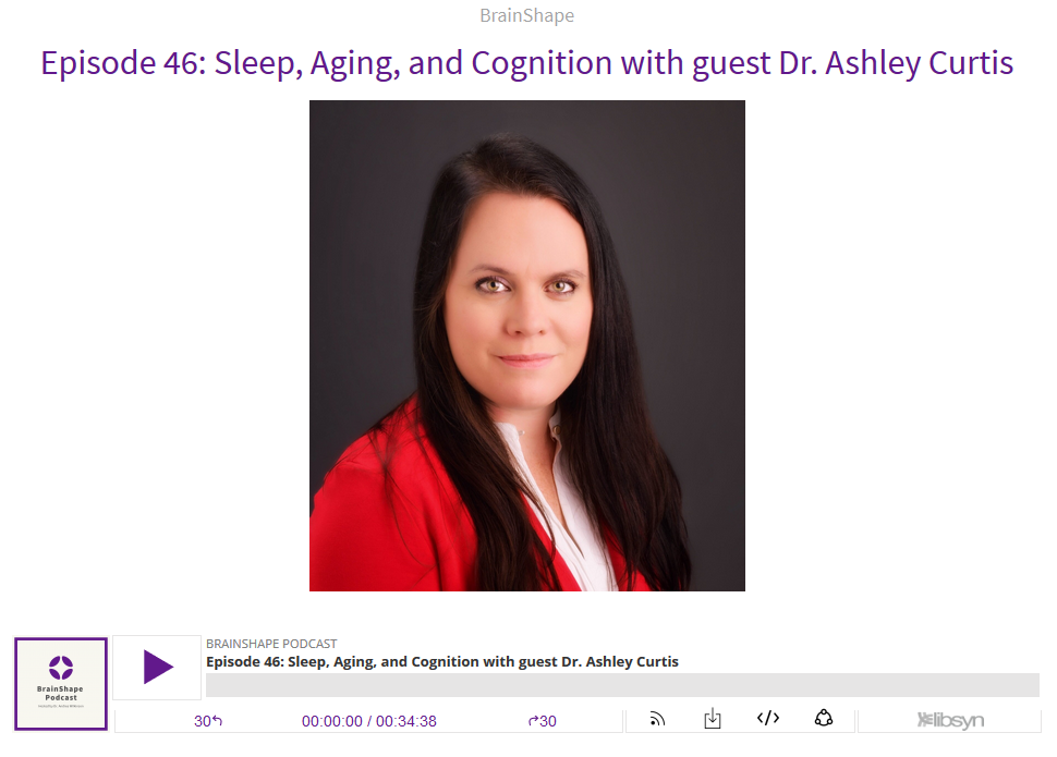 Sleep, Aging, and Cognition with guest Dr. Ashley Curtis