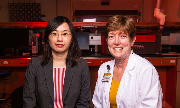 "Xueju ""Sophie"" Wang, PhD and Carolyn Crumley, DNP"