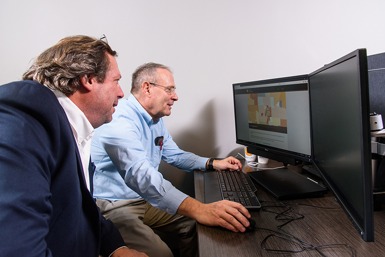 Photo of Peter Tonellato, PhD, in the Center for Biomedical Informatics