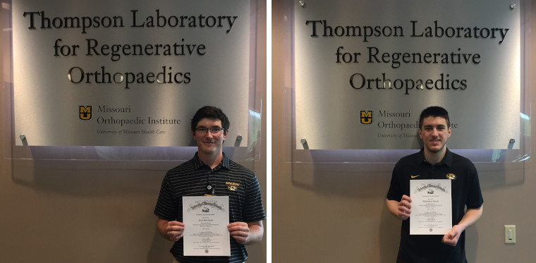 Jack Baumann and Muhammad Salim won the 2020 TLRO Excellence in Research Awards for undergraduate students.