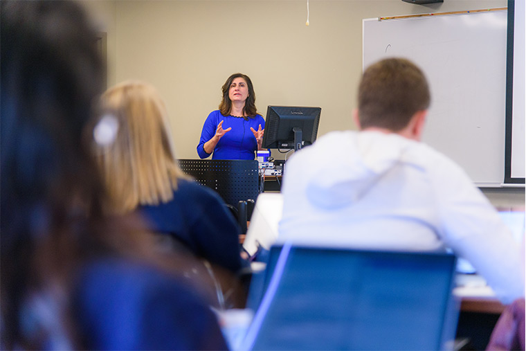 Photo of residential health management and informatics class.