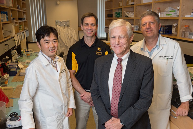 Photo of research team at the University of Missouri School of Medicine.