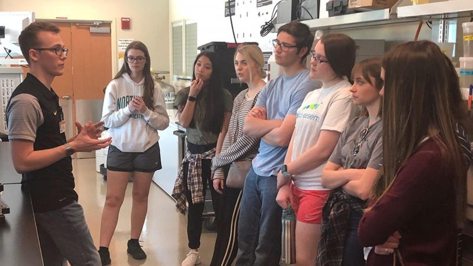 High School Students Interested in Research Tour the TLRO