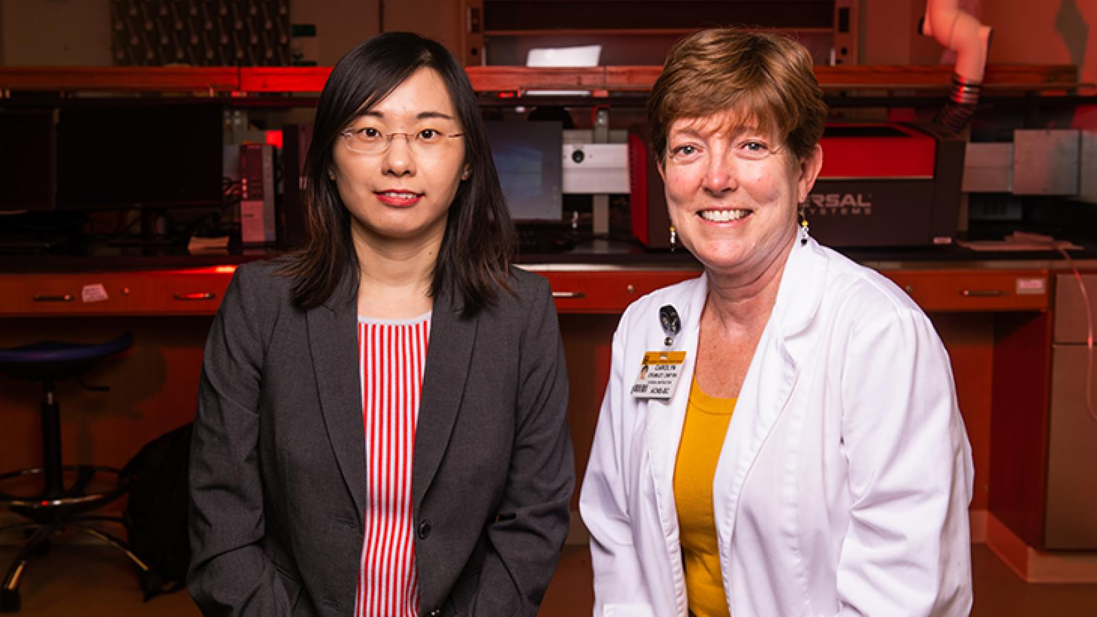 photo of Dr. Wang and Dr. Crumley