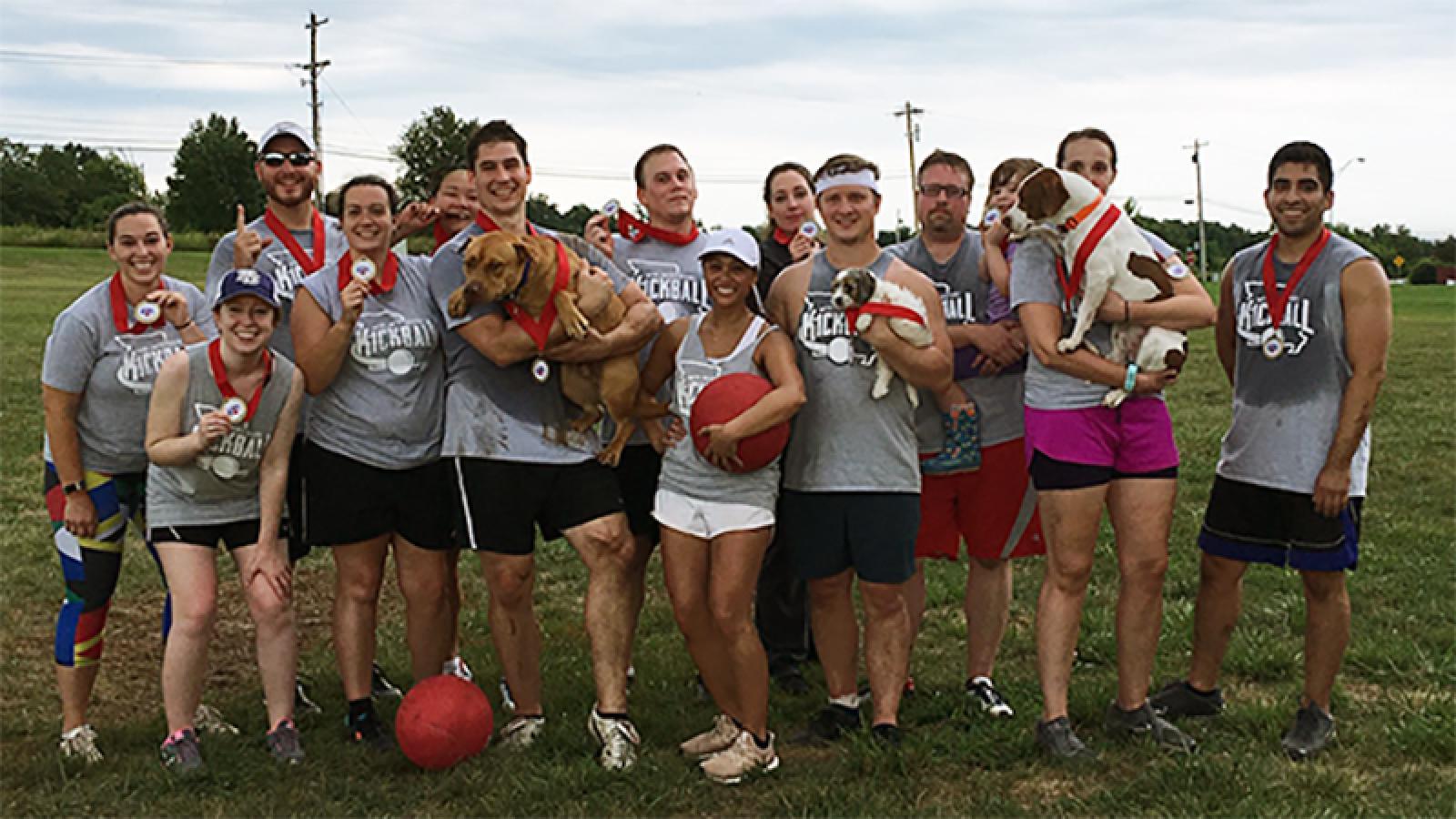 Pediatrics Team Kickball champs