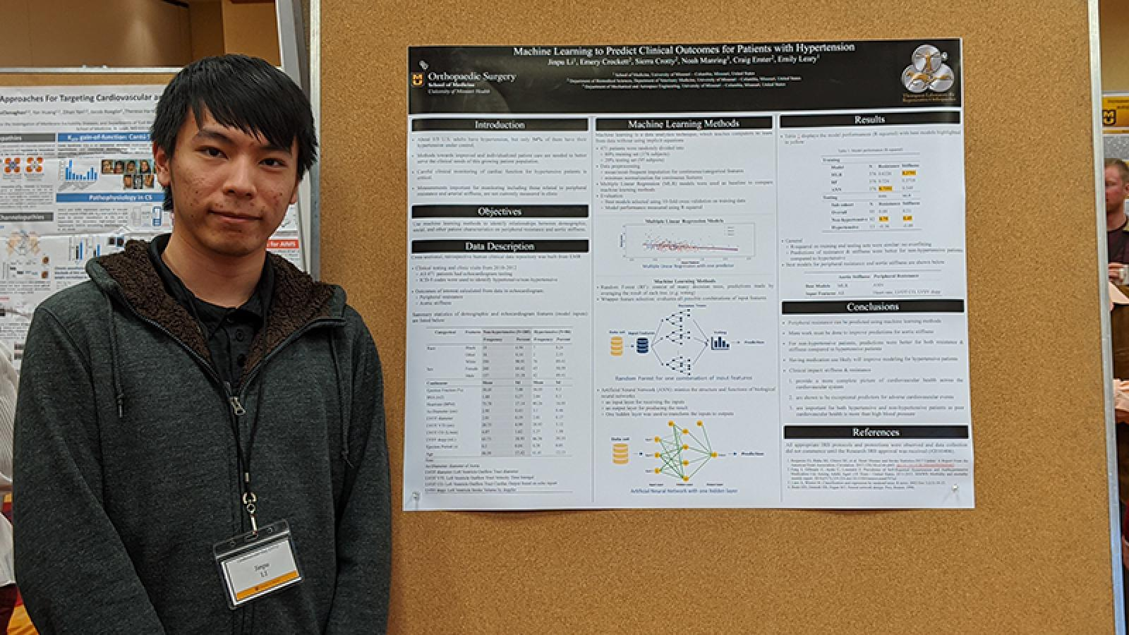 Jinpu Li, MA with poster presentation
