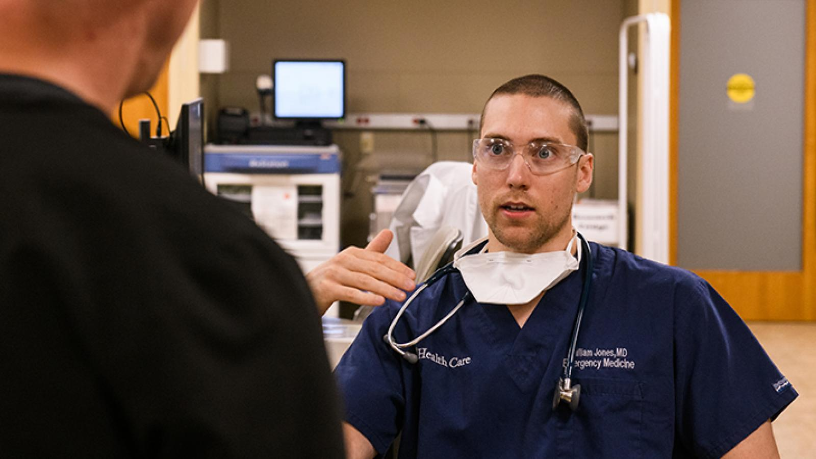 EM Dr. Jones with colleague
