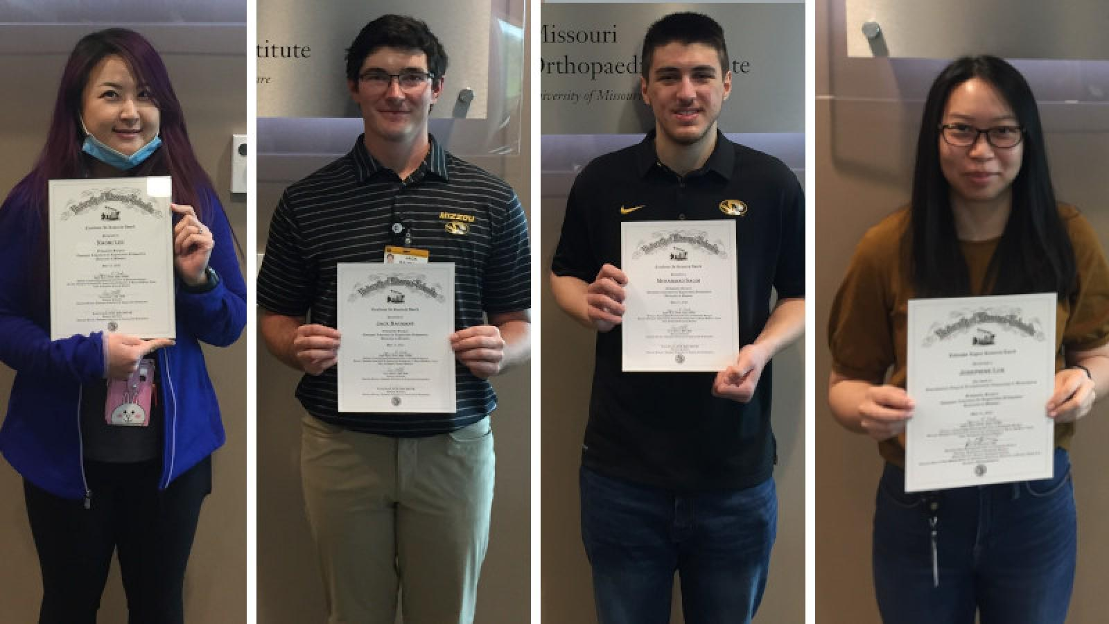 Lee, Baumann, Salim, and Luk Win TLRO Research Awards