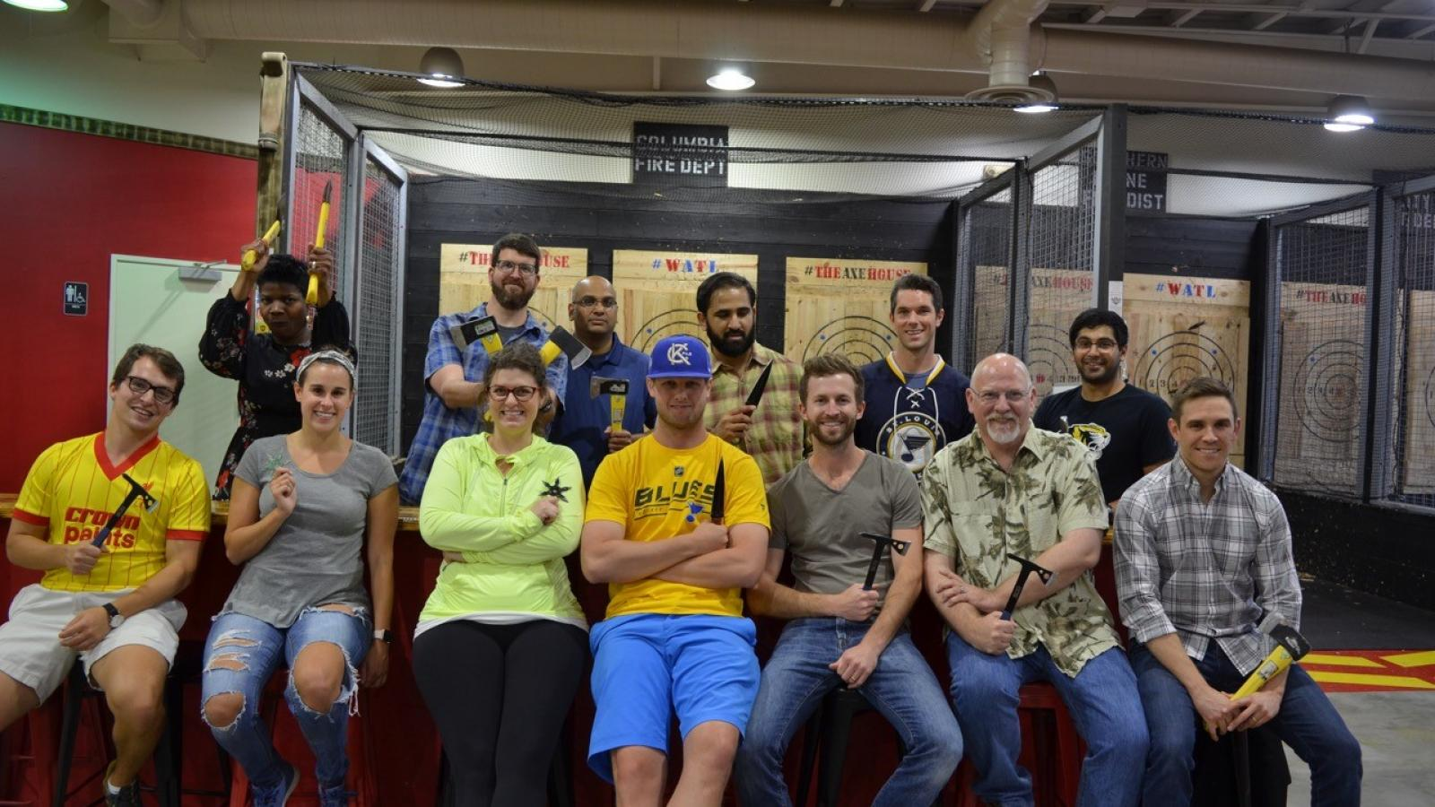 Photo of Urology Takes over Axe Throwing in Columbia 2019