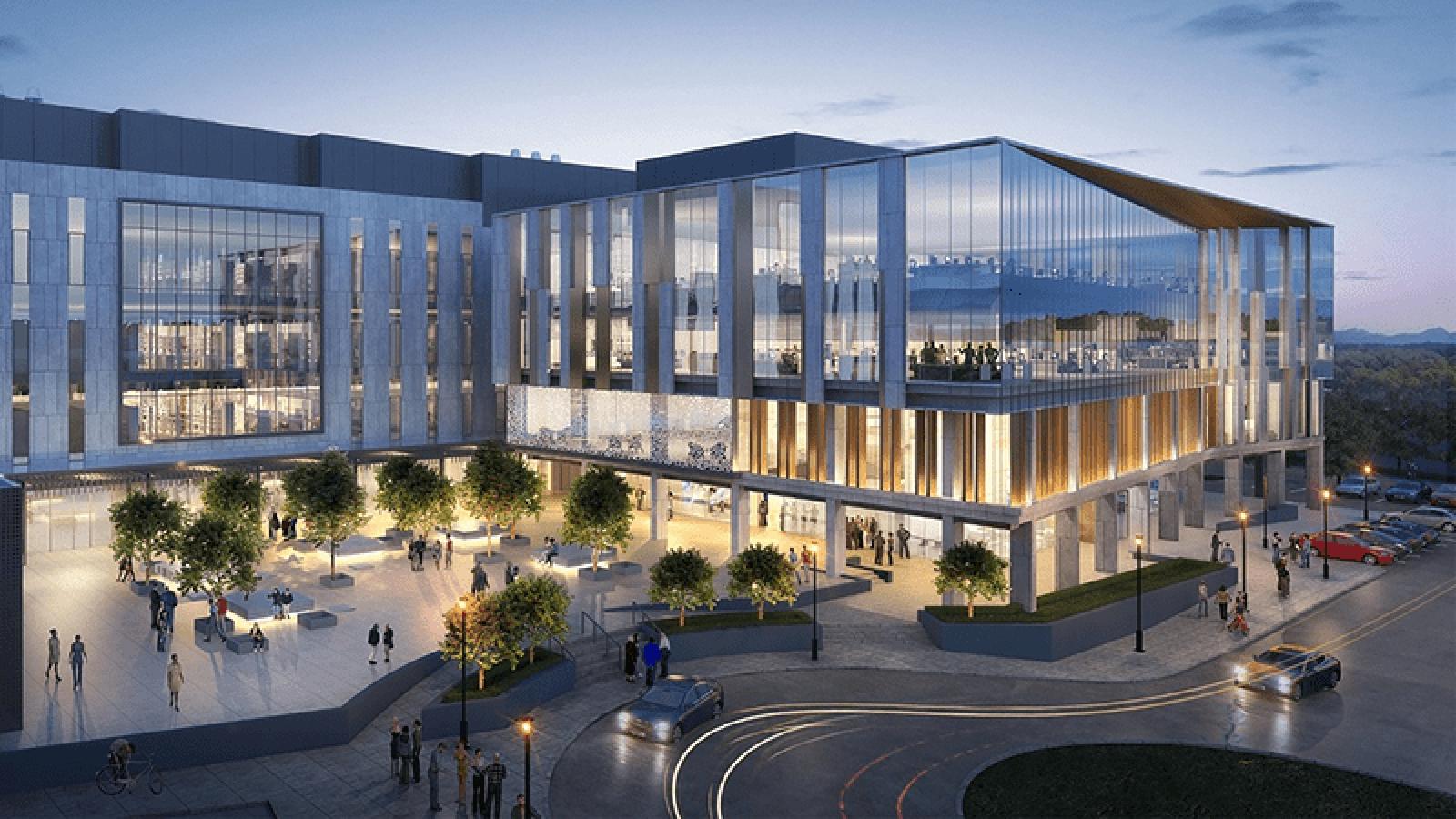 Image of NextGen Precision Health building
