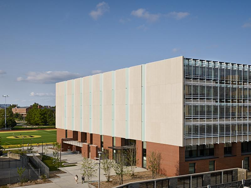Exterior photo of the Patient-Centered Care Learning Center at the MU School of Medicine.