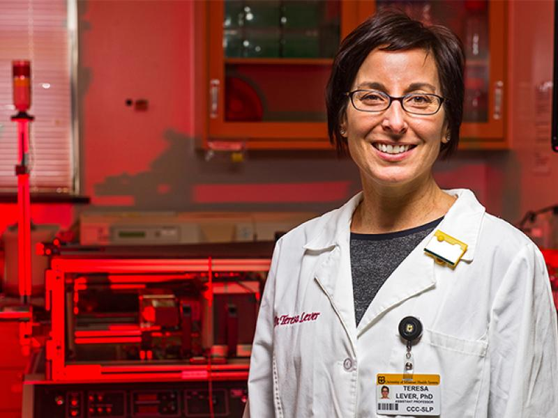 Teresa Lever, PhD, studies rodents to better understand ALS and future treatment options.