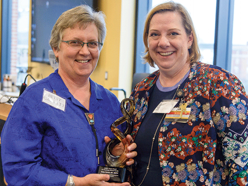 Richelle Koopman, MD, right, and Elizabeth Garrett, MD